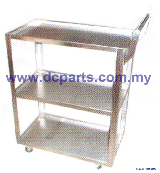 General Truck Repair Tools 3-SHELF SERVICE CART STAINLESS A1073